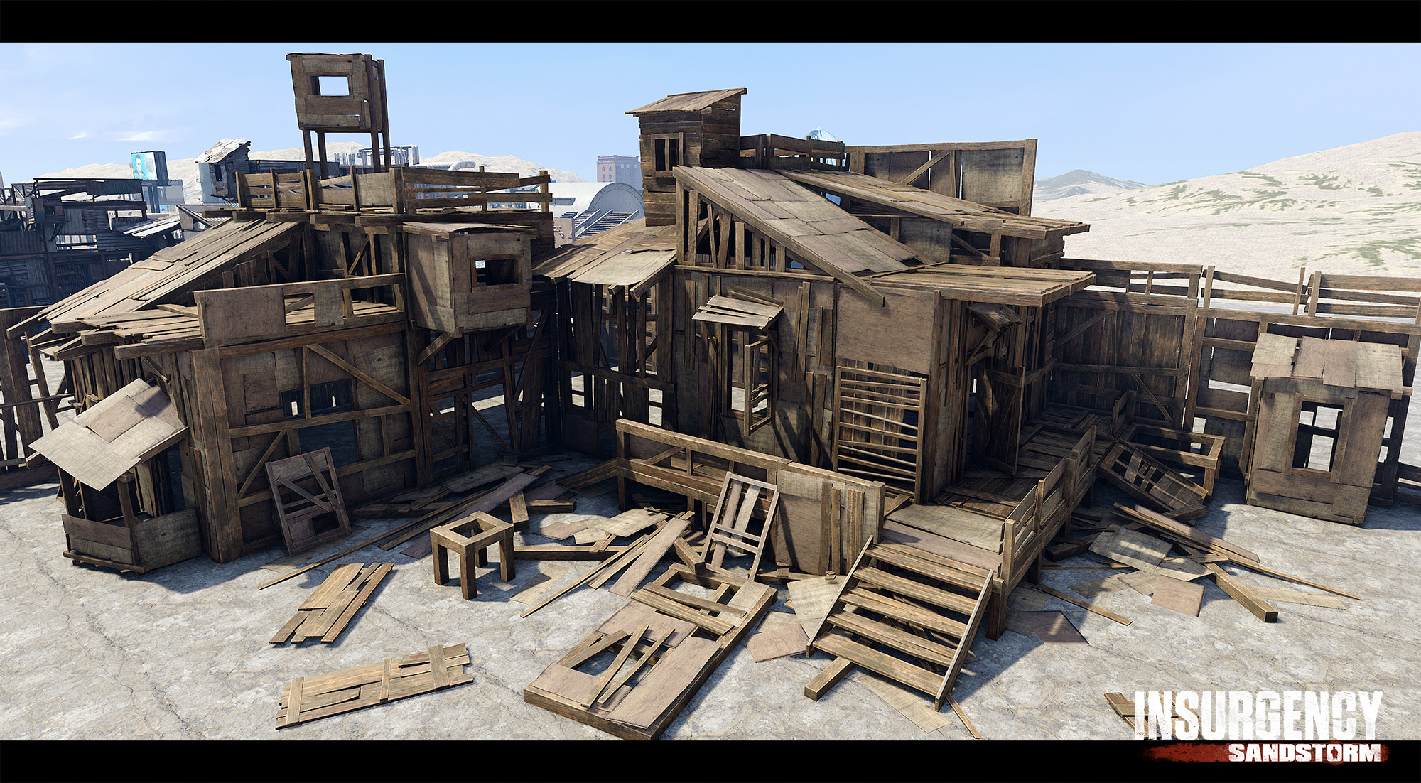 Modular Wood-Shack Kit : Insurgency Sandstorm